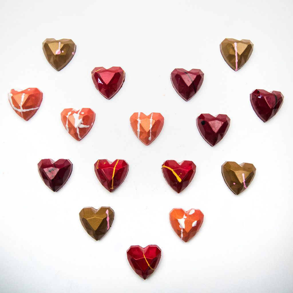 Kate Weiser Diamond Heart Collection chocolates
