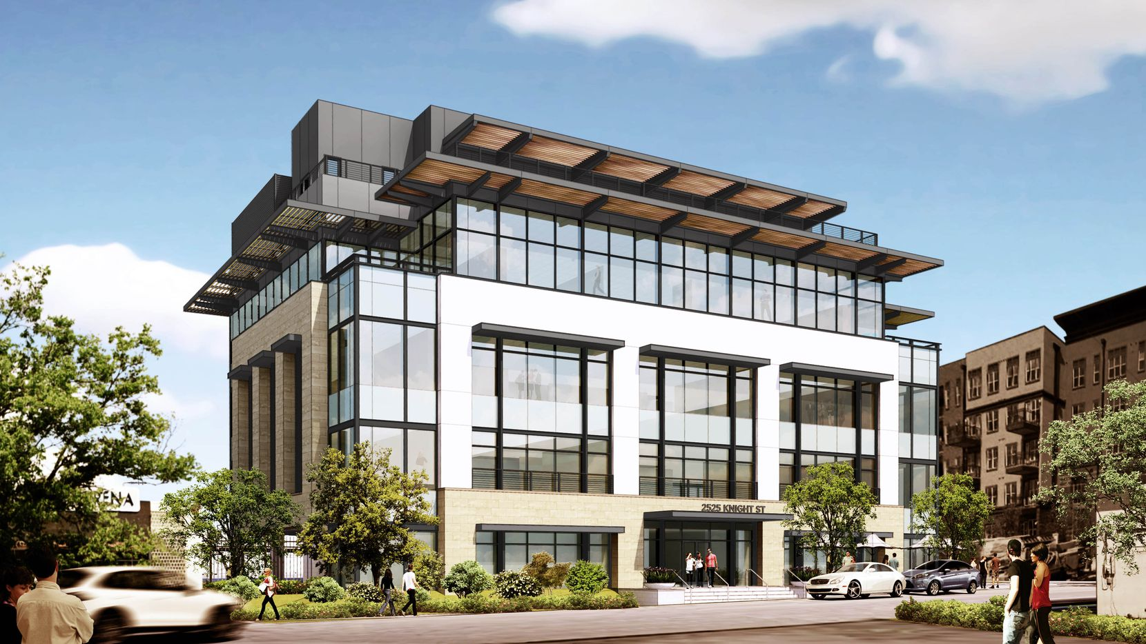 The Parkland Knight office building is being constructed near the intersection of Maple Avenue and the Dallas North Tollway.
