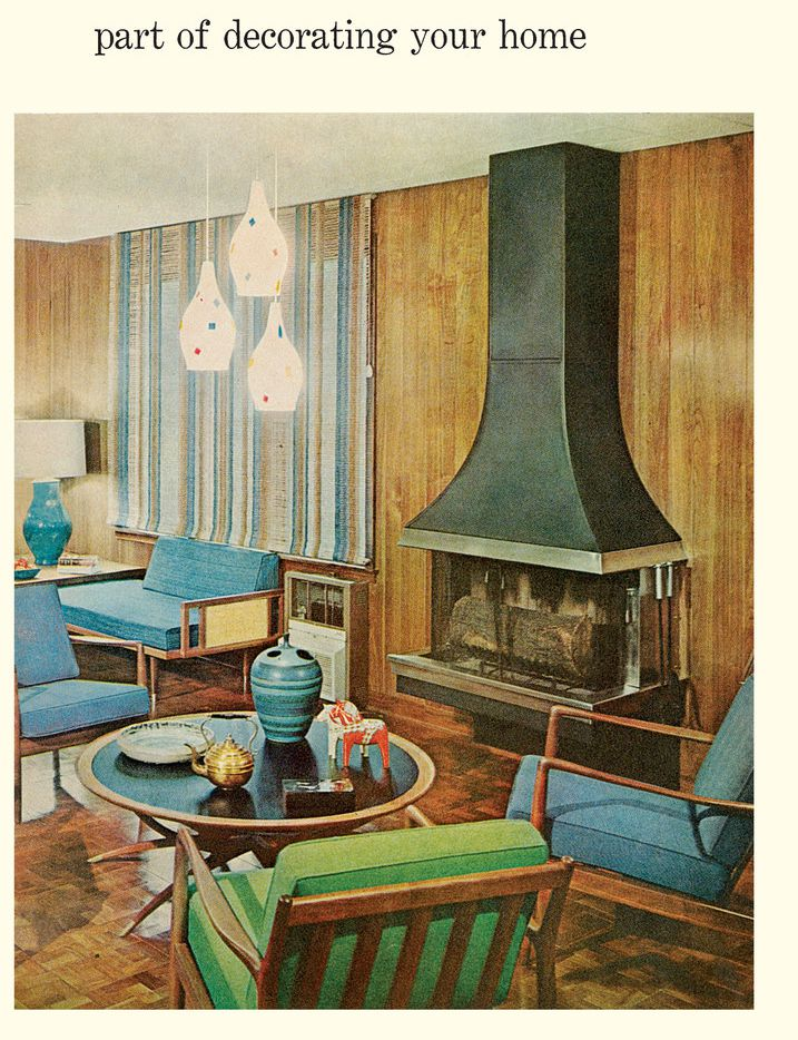 The Better Homes & Gardens Decorating Book features popular interior trends and designs from the time it was originally published in the late 1950s.