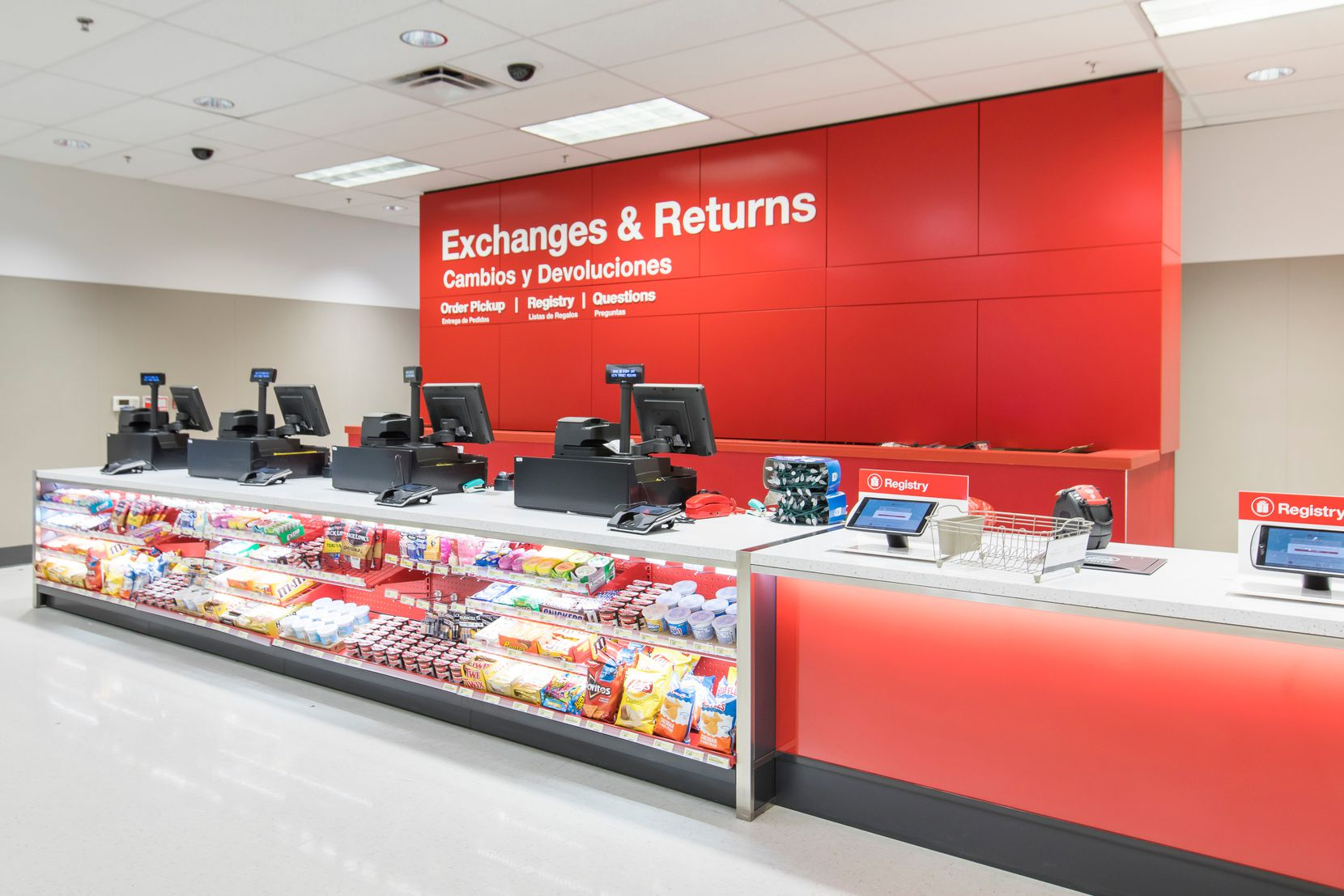 New guest services area for online order pickups and other services.  (Tim Mueller/AP Images for Target)