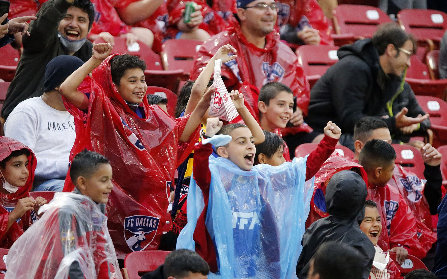 FC Dallas fans cheer an opportunity to score on a penalty kick during the first half as FC Dallas hosted Real Salt Lake at Toyota Stadium in Frisco on Saturday, May 22, 2021. (Stewart F. House/Special Contributor)