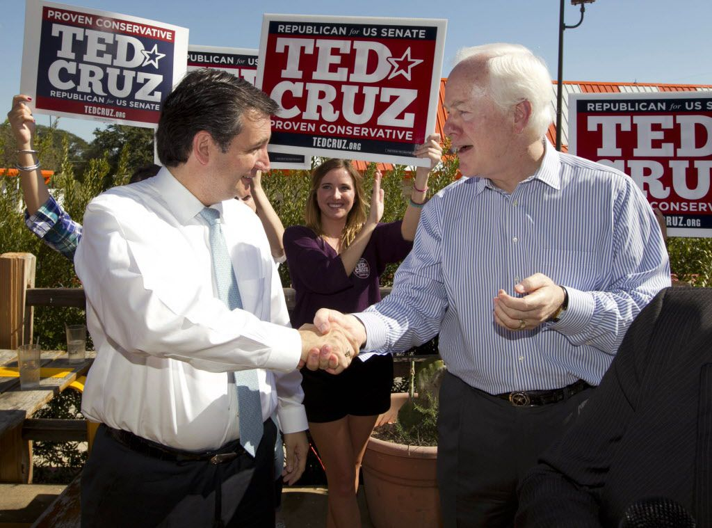 Sens. Ted Cruz and John Cornyn, pictured here in Austin on Oct. 31, 2012, have serious concerns about an agreement with Iran to provent to country from obtaining a nuclear weapon. (AP Photo/Austin American-Statesman, Jay Janner)