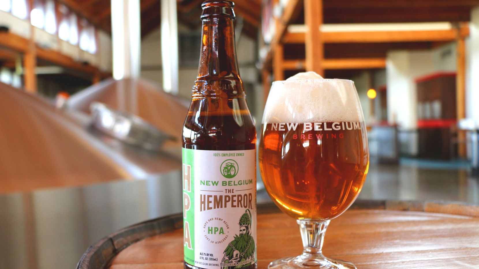 """The Hemperor is a """"hemp pale ale"""" from New Belgium Brewing Co. in Colorado and one of the first nationally distributed beers using a cannabis product. The beer is made with hemp seeds."""