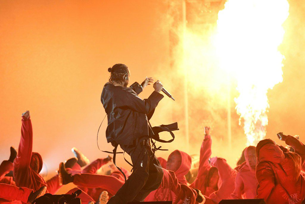 Kendrick Lamar performs during the 60th Annual Grammy Awards show on Jan. 28, 2018 in New York.
