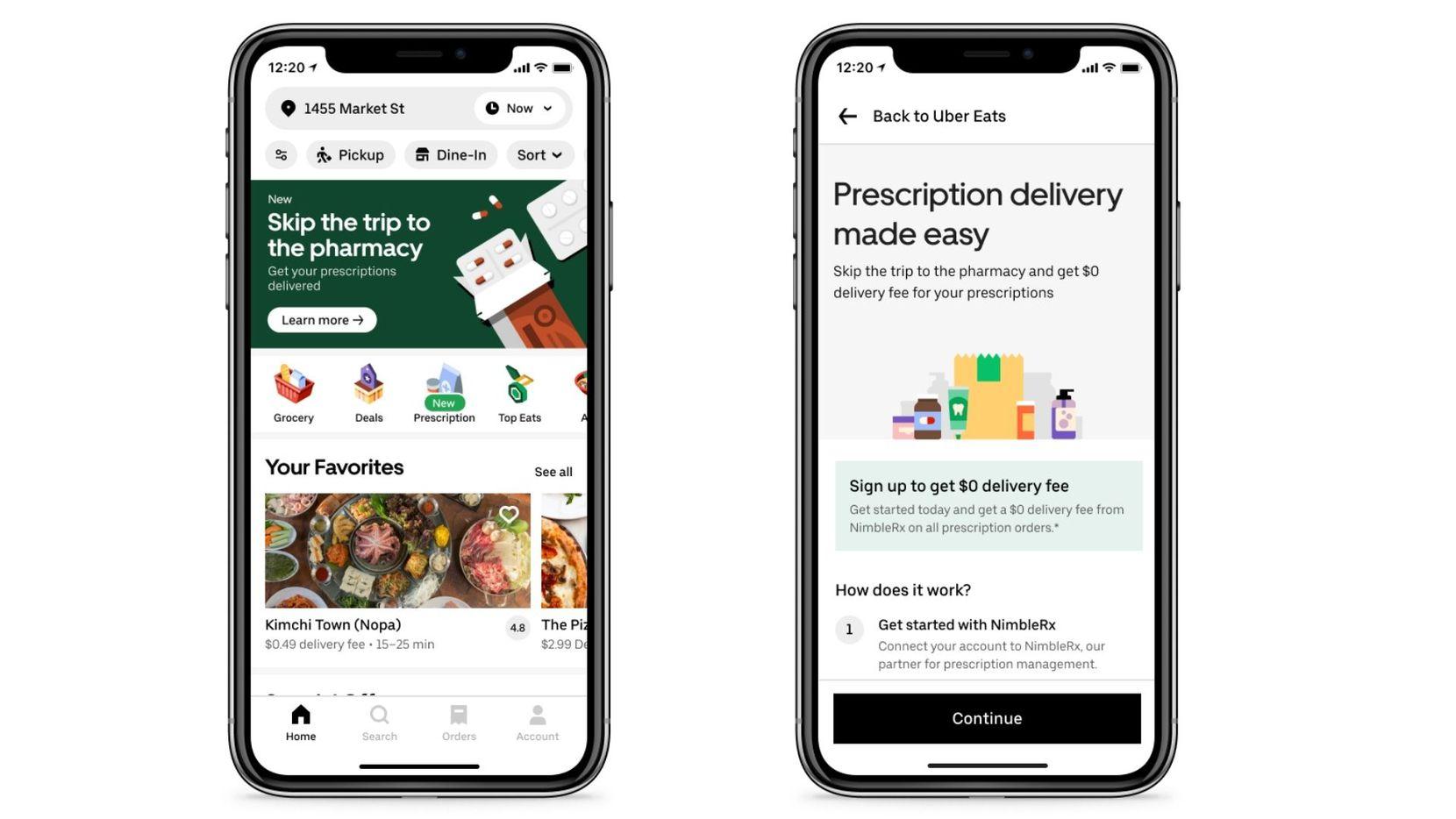 Uber Eats lanzó un servicio para ordenar recetas de medicinas en Dallas.