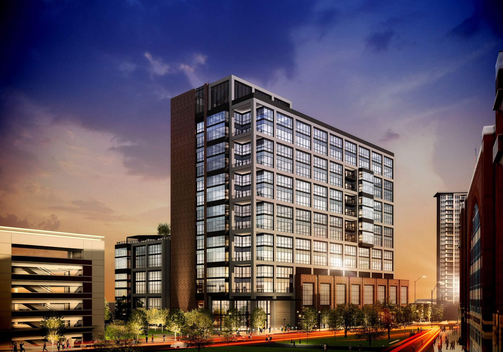 USAA Real Estate is a partner in the new Victory Commons office building under construction near downtown Dallas.