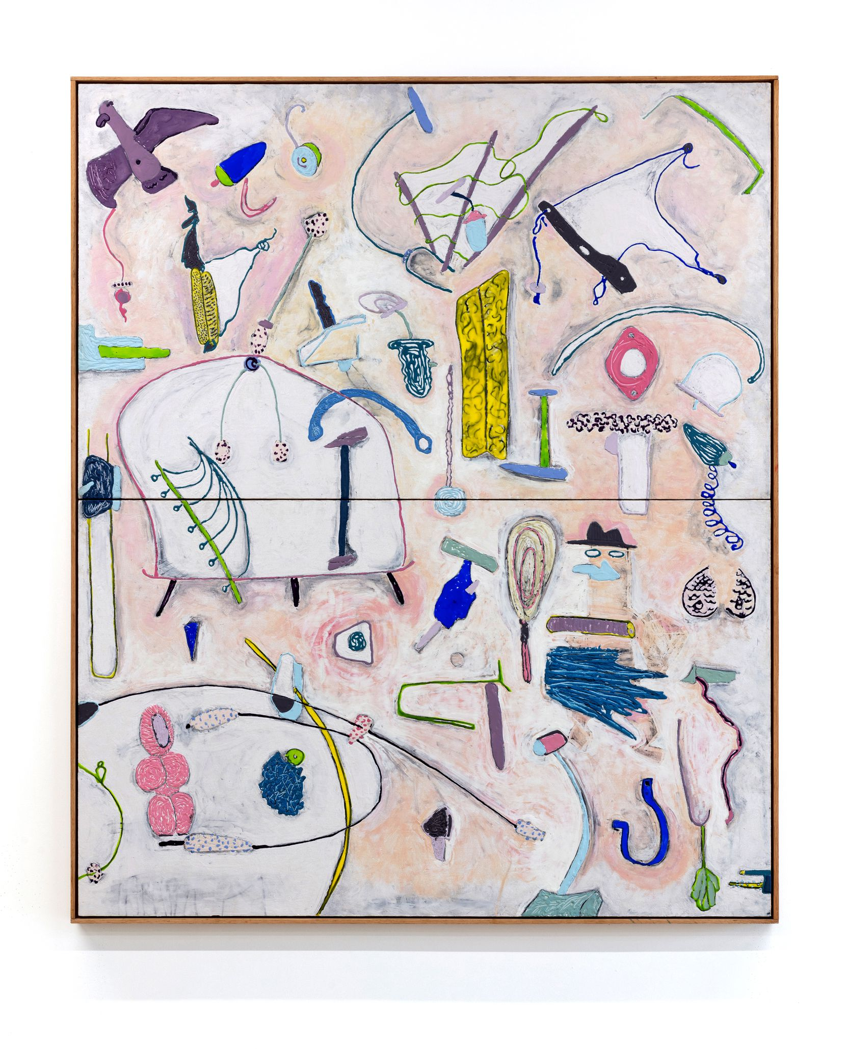"""John Miranda's 2020 piece """"I'm All Over the Place"""" is among his artworks on display at Cluley Projects through June 26."""