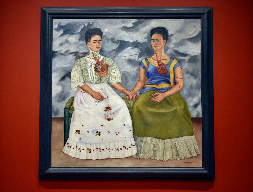 The Two Fridas 1939, oil on canvas, part of the exhibition; Mexico 1900-1950: Diego Rivera, Frida Kahlo, Jose Clemente Orozco and the Avant-Garde, showing at the Dallas Museum of Art in Downtown Dallas, March 9, 2017. Ben Torres/Special Contributor