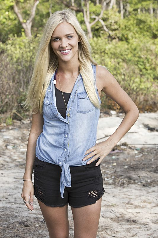 Alecia Holden, a real estate agent on the 'Brawn' tribe, competes for a chance to win the million-dollar prize on the new season of 'Survivor,' which premieres Feb. 17.