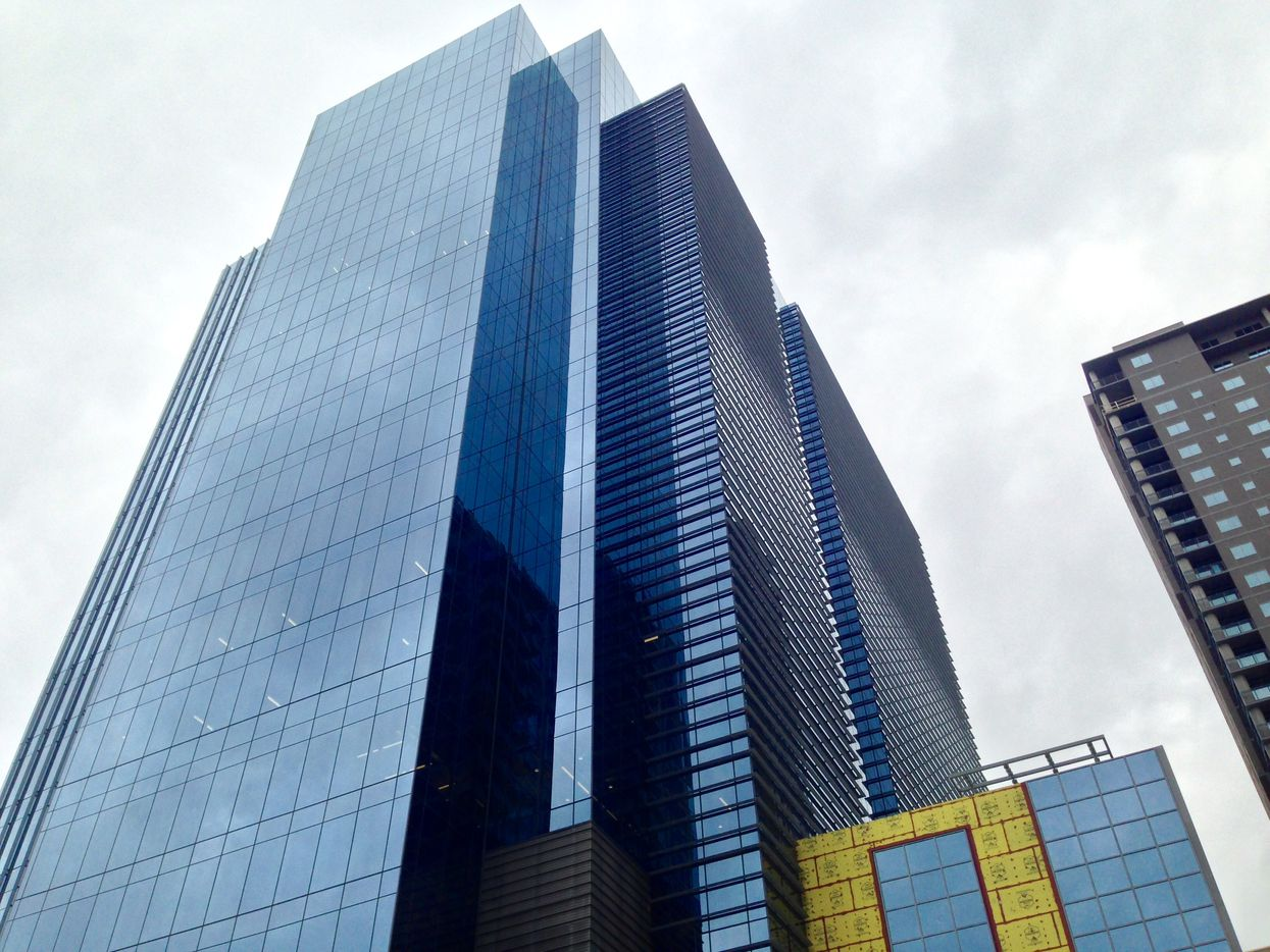 The 2-tower Union development is on Field Street north of downtown.