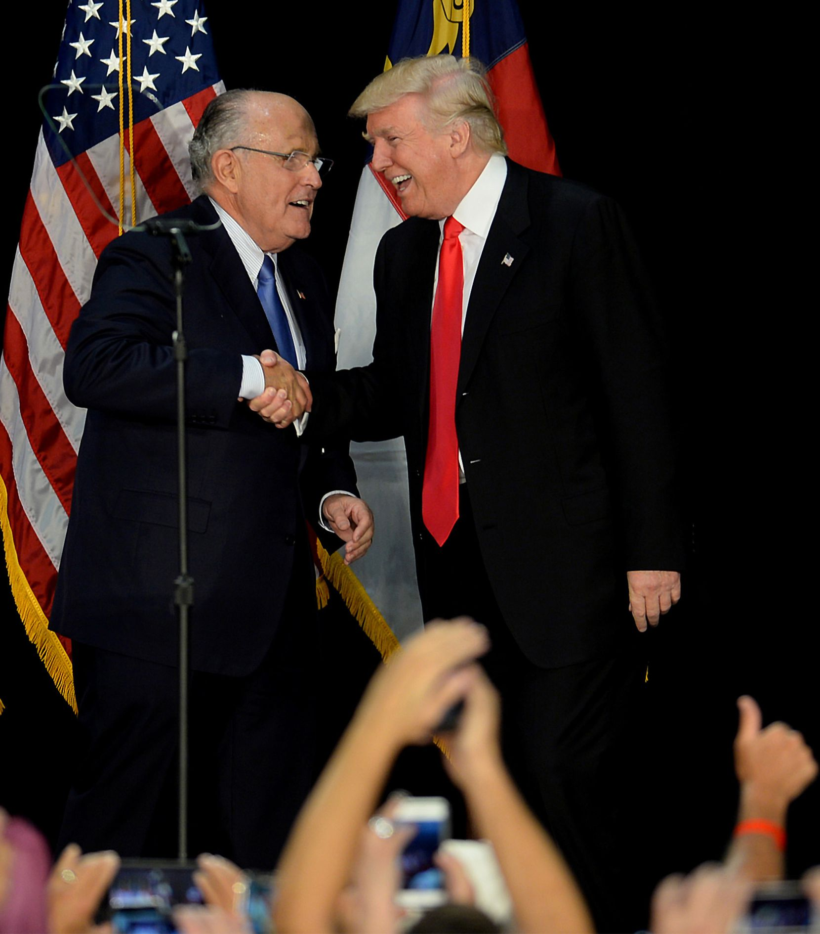 Former New York City Mayor Rudy Giuliani, with Donald Trump in 2016, will be in Farmers Branch next week to speak at a home community grand opening.