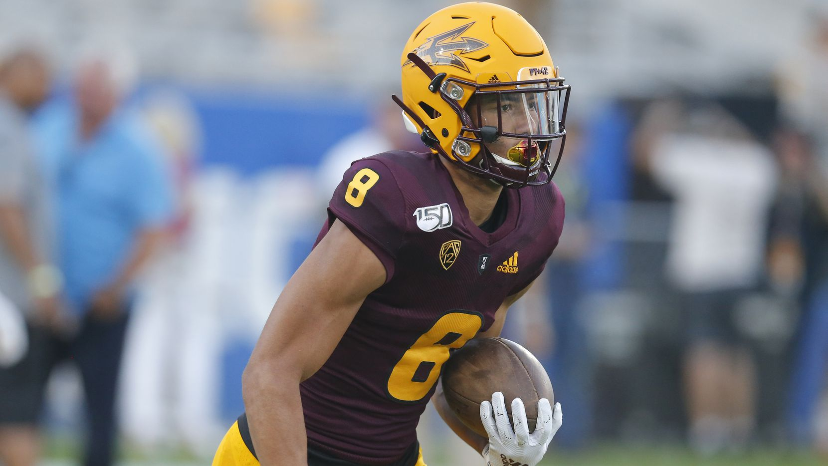 Arizona State Sun Devils wide receiver Jordan Kerley (8) during an NCAA football game against the Kent State Golden Flashes on Thursday, Aug. 29, 2019 in Tempe, Ariz.