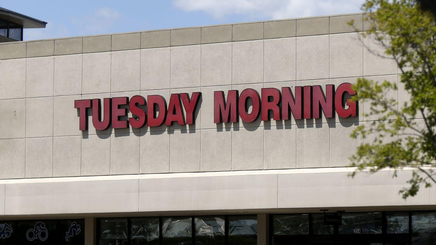 Exterior of Tuesday Morning store in Dallas' Hillside Village.