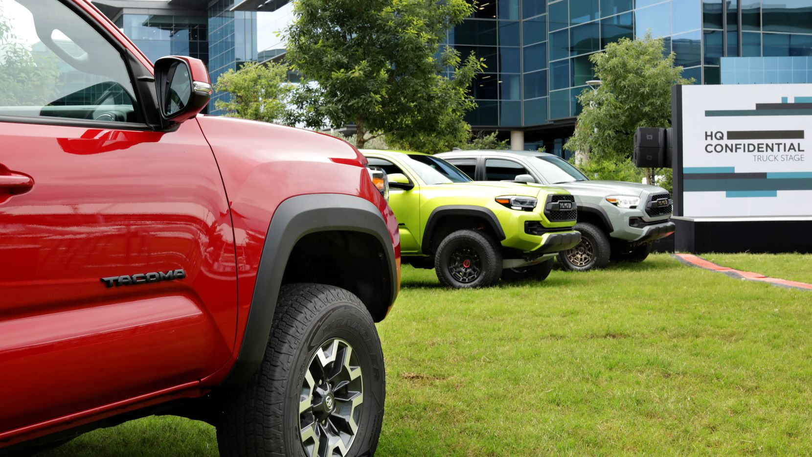 The new truck and SUV lineup photographed during a special press event at Toyota Headquarters in Plano, TX, on Jun. 2, 2021.