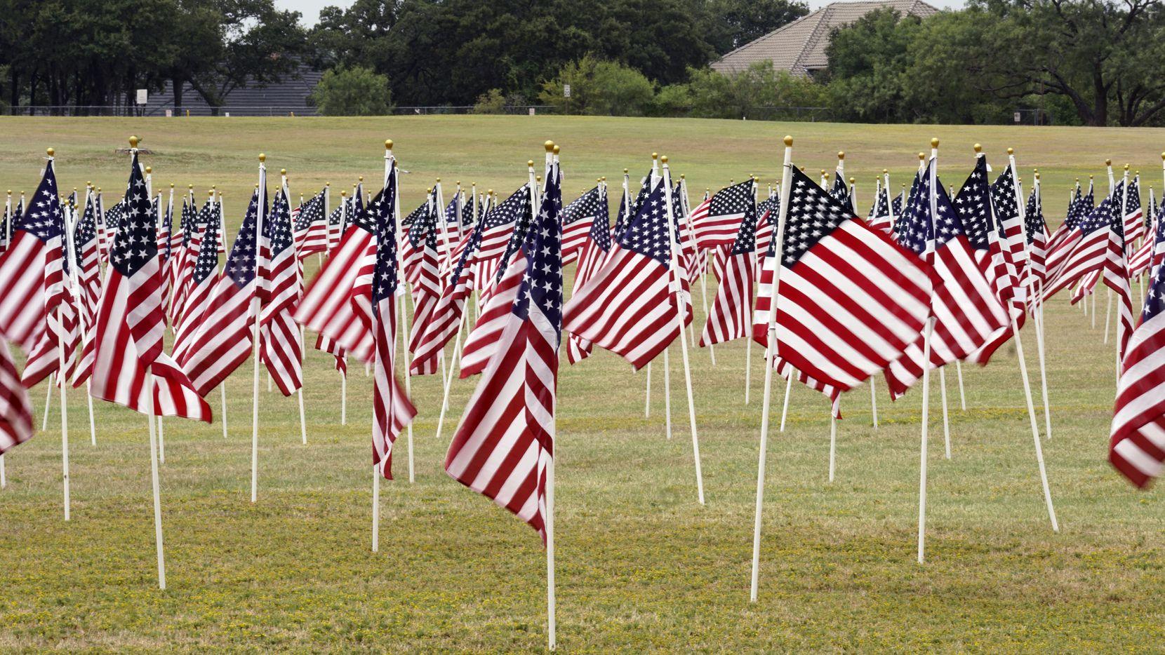 911 Memorial at Veterans Park in Arlington, Texas on Sunday, September 5, 2021.(Lawrence Jenkins/Special Contributor)