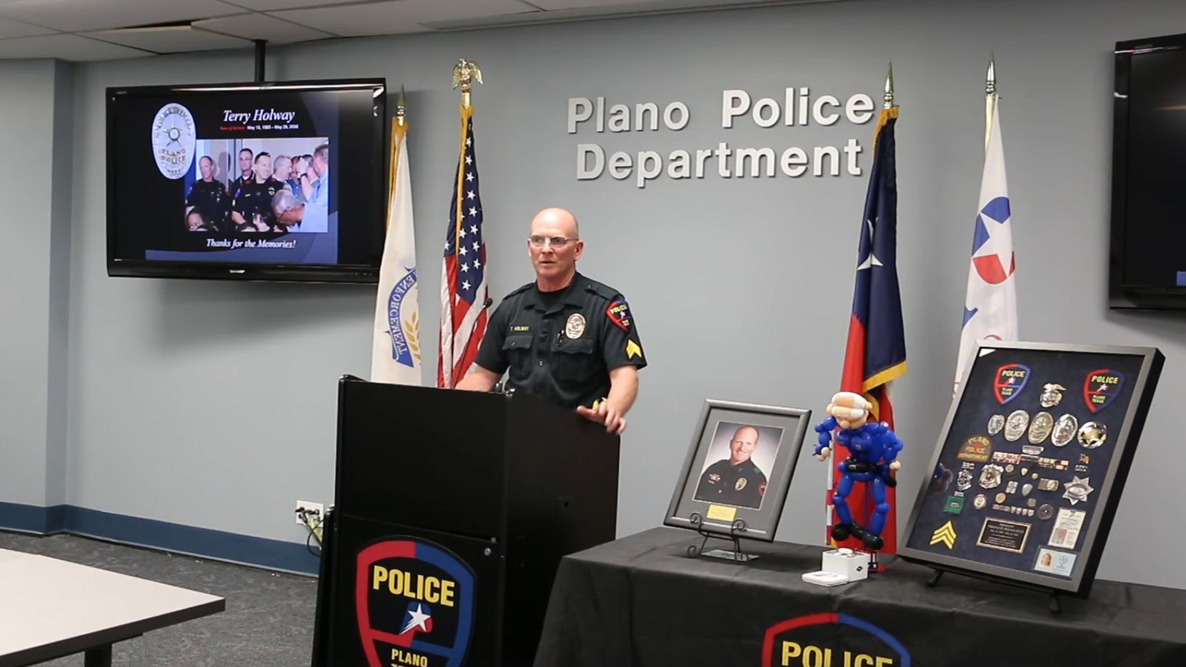 Plano Police Sgt. Terry Holway talks about his retirement.