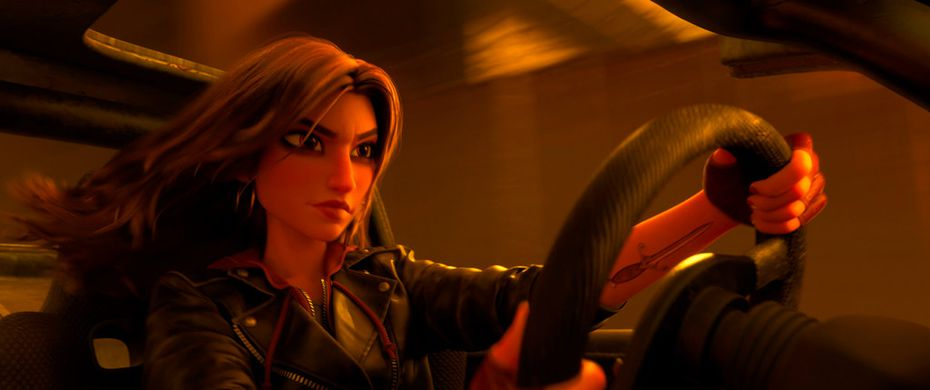 """Shank, voiced by Gal Gadot, in a scene from """"Ralph Breaks the Internet."""""""