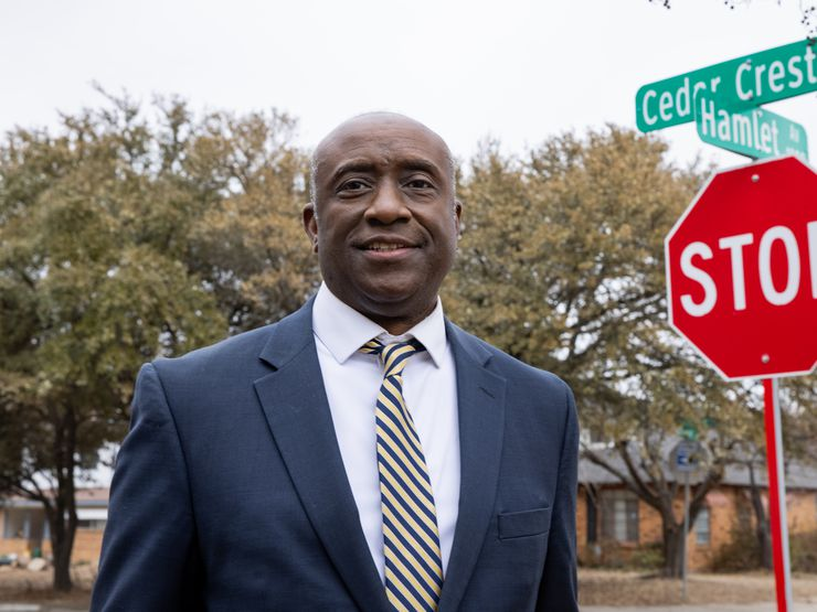 David Small poses in the Cedar Crest neighborhood in Dallas on Thursday1. (Juan Figueroa/ The Dallas Morning News)