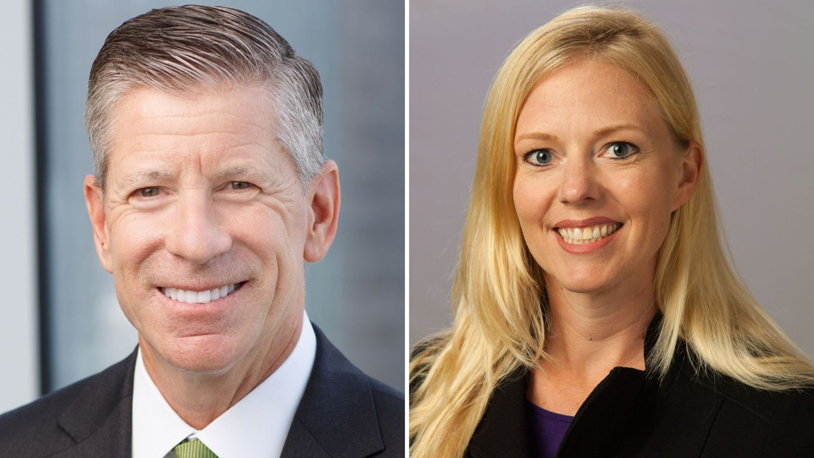 Outgoing managing partner Manny Fernandez (left) is retiring after a 36-year career. Kim Kesler (right) will take over as the KPMG Dallas practice's first female managing partner in history.