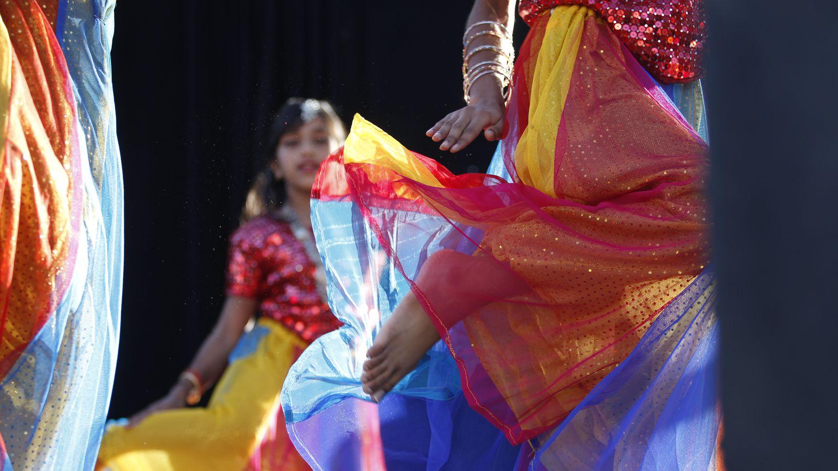 The students of Masti Dance perform at the 9th annual Diwali Mela on Nov. 1, 2014 in Dallas.  (Kirsten Kearse/The Dallas Morning News)