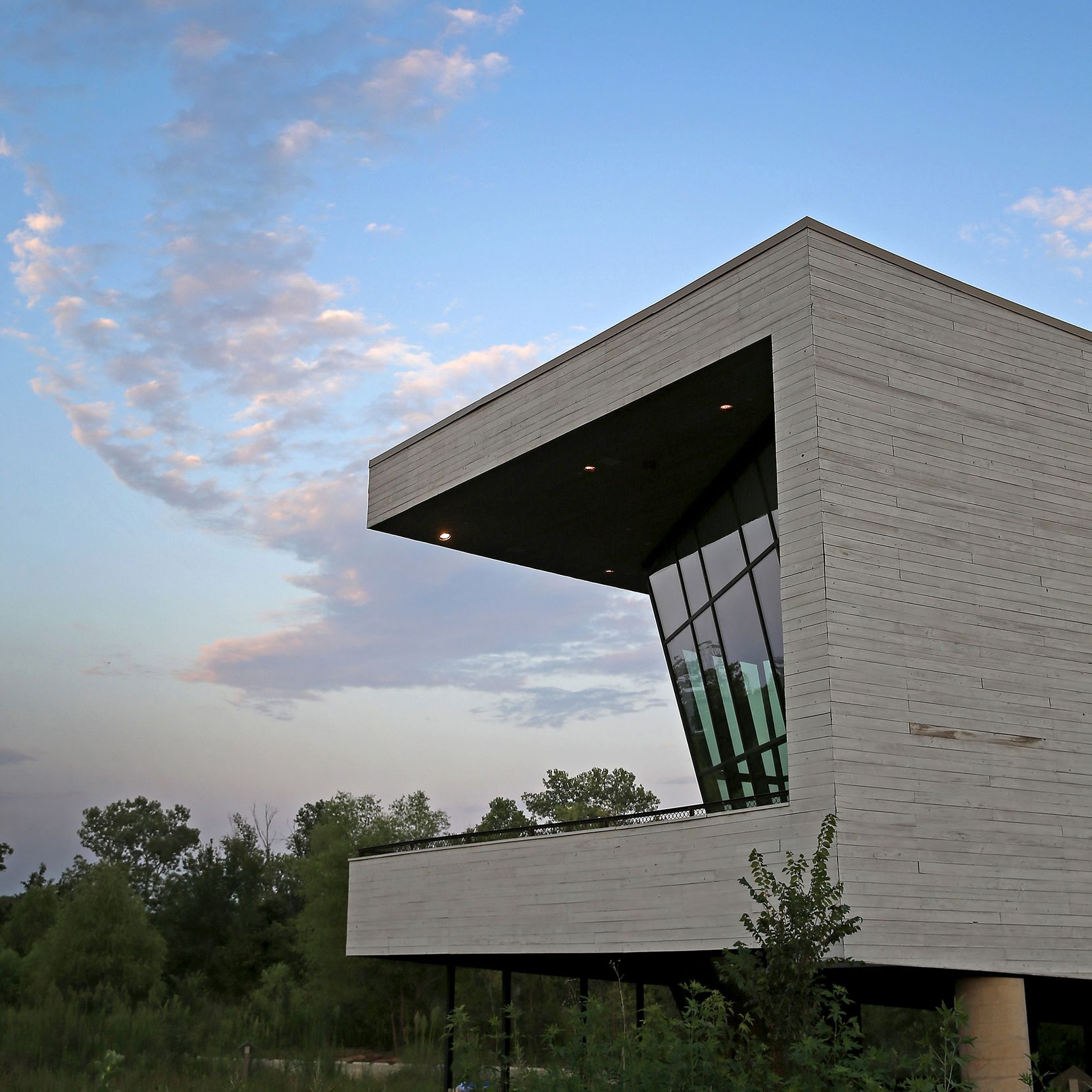 Antoine Predock's design for the Trinity Audubon Center is complex and quirky in the best ways.