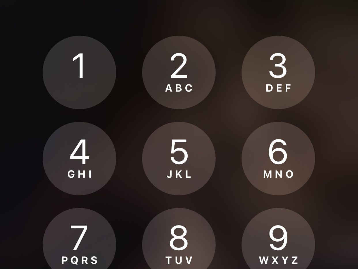 The passcode keypad from iOS.