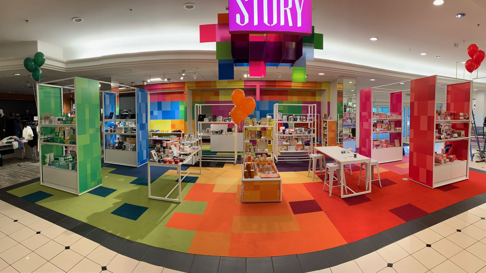 Story shop inside the Macy's at NorthPark Center. It's located on the first level at the entrance from Park Lane in Dallas.