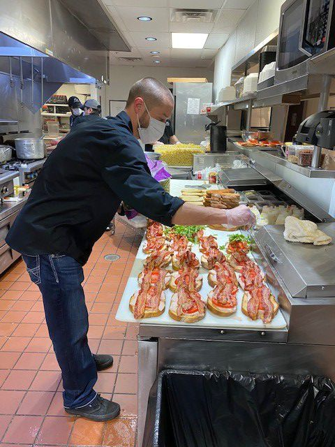 Bar Louie in Allen donated and prepared more than 300 meals for local health care professionals at Texas Health Presbyterian Hospital in Allen.