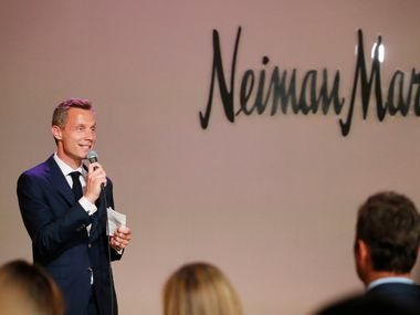"Neiman Marcus CEO Geoffroy van Raemdonck spoke during a VIP party for the art exhibit ""Dior: From Paris to the World"" at the Dallas Museum of Art in Dallas on May 14."