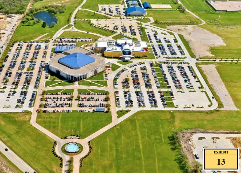 Crossroads Christian Church, at 6450 S. State Highway 360, has grown from 188 members in 1992 into a 140-plus-acre institution that serves over 8,000 members.