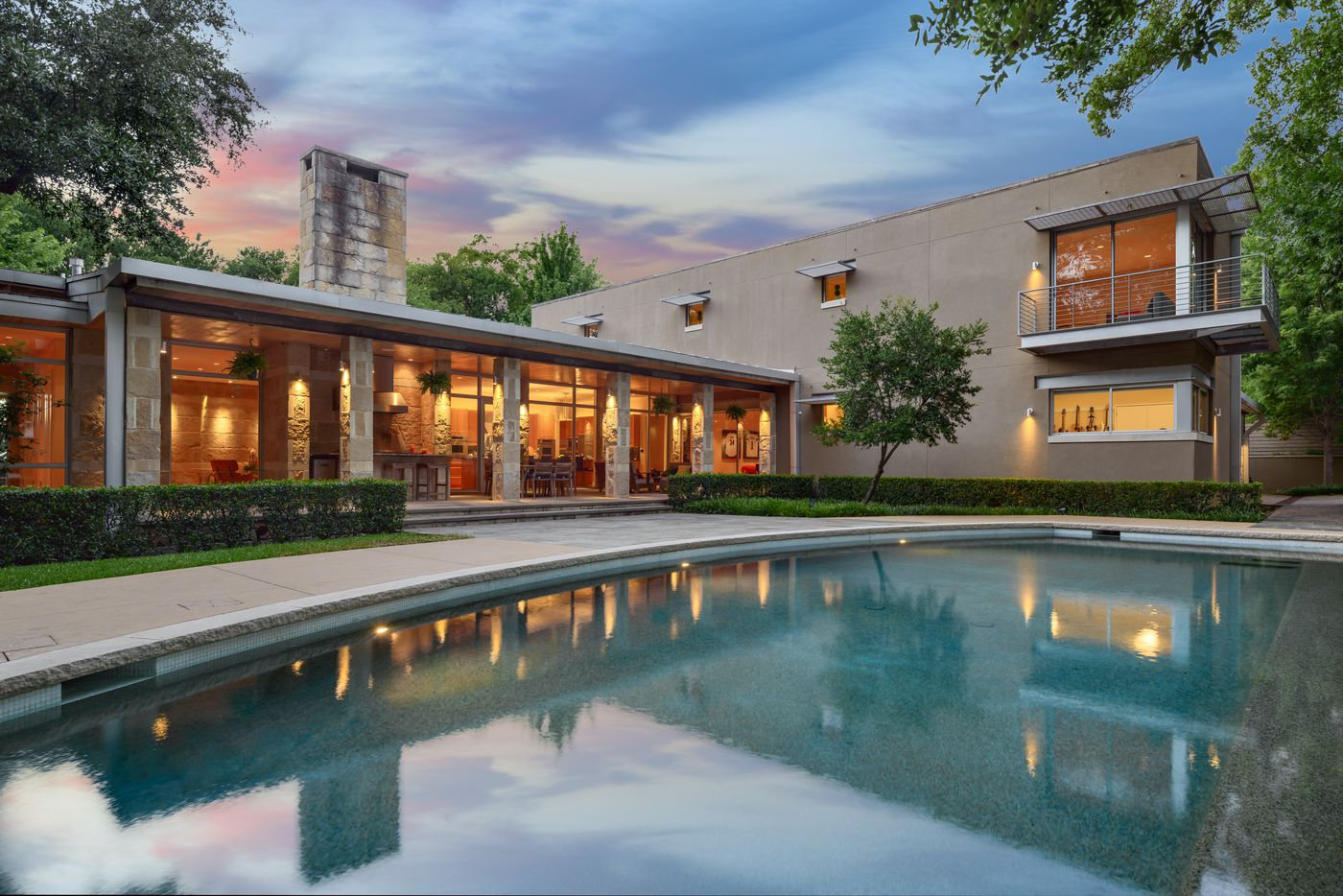 This 6,886-square-foot house at 5006 Shadywood in Dallas' Bluffview neighborhood was built for sustainable living by Ralph Hawkins, former president and CEO of architecture firm HKS Inc.