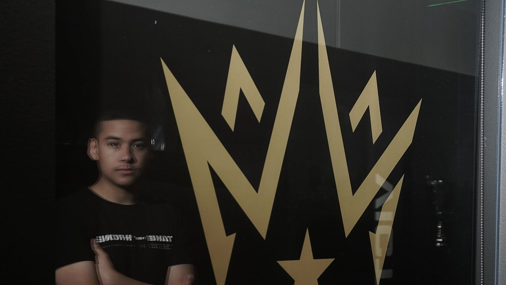 """Dallas Empire Player and 2020 MVP Anthony """"Shotzzy"""" Cuevos-Castro at the Envy Gaming office in Dallas, Texas on Thursday, June 10, 2021."""
