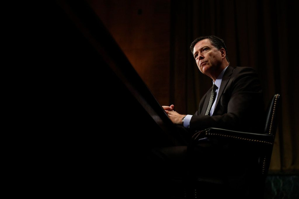 In this May 3 photo, FBI Director James Comey listens while testifying on Capitol Hill in Washington.