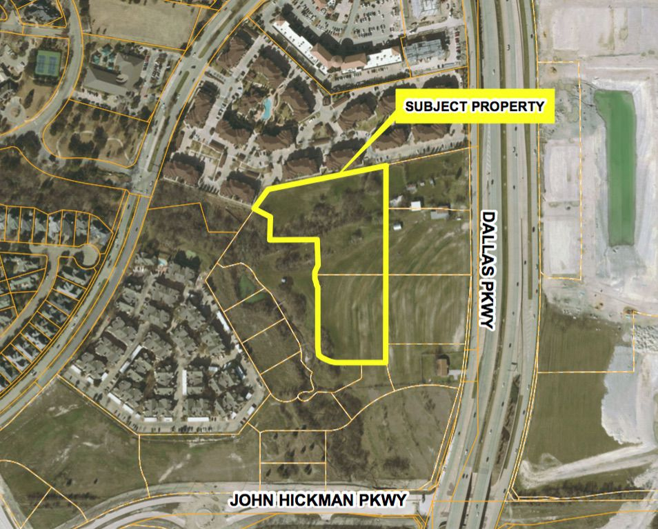 JPI's planned apartment project is west of the Dallas North Tollway.