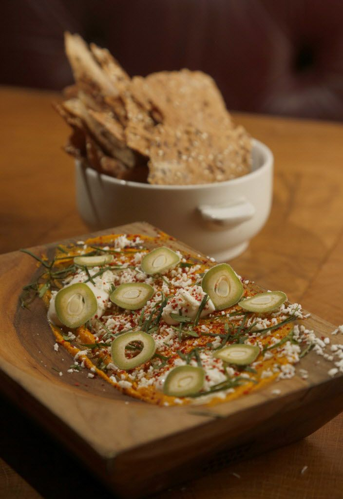 Smoked carrot dip at CBD Provisions in the Joule Hotel in Dallas, on Wednesday, June 10, 2015.
