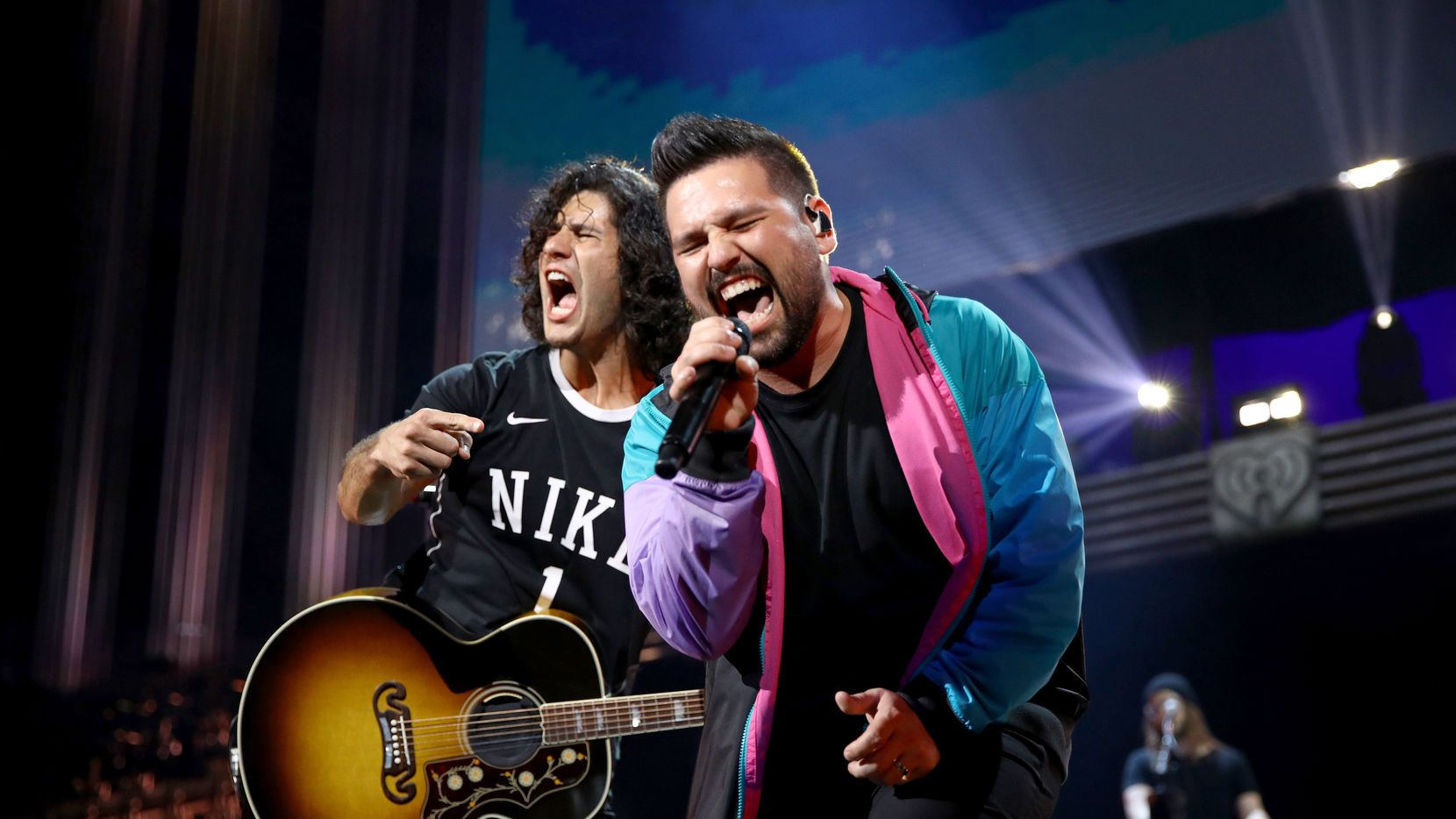 Dan Smyers (left) and Shay Mooney of Dan + Shay performed during the 2019 iHeartCountry Festival at the Frank Erwin Center in Austin on May 4, 2019.