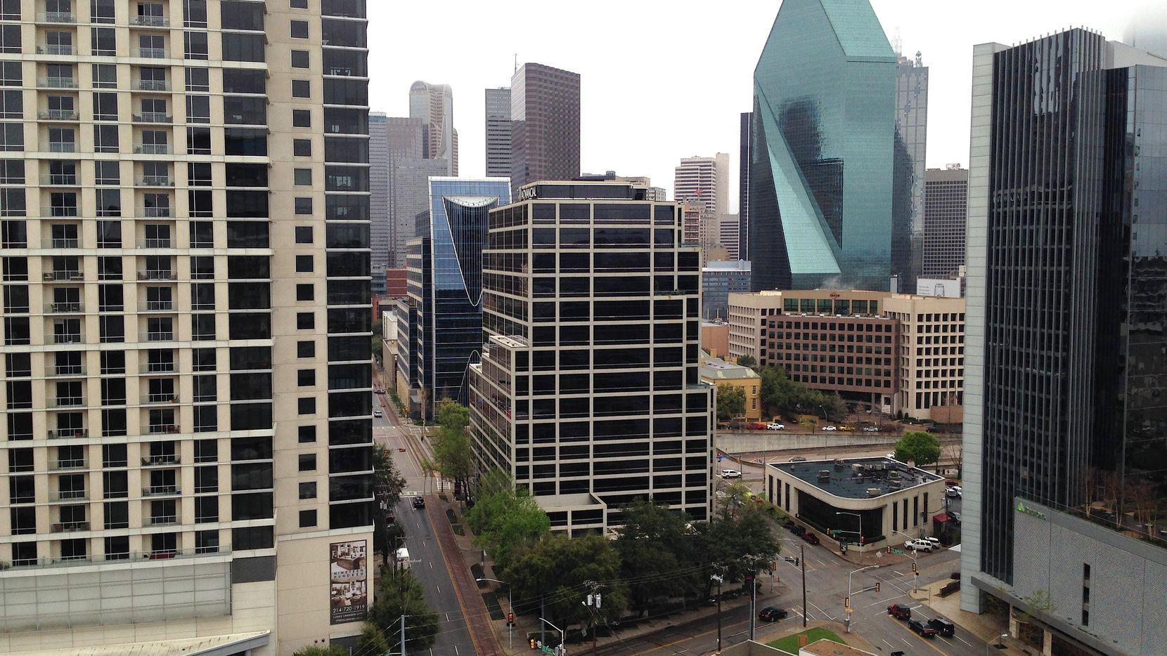 Dallas-area office vacancy rates totaled 19% in February, the second-highest in the country, according to a new report.