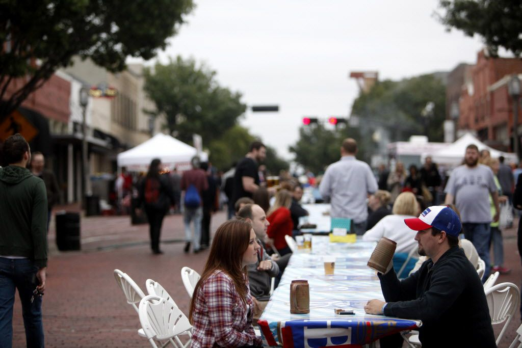 The street was closed to traffic and tables were set up as Historic Downtown Plano celebrated its first ever Oktoberfest event called SteinFest in downtown Plano, Texas, Sunday, October 25, 2015. (Anja Schlein/Special Contributor)