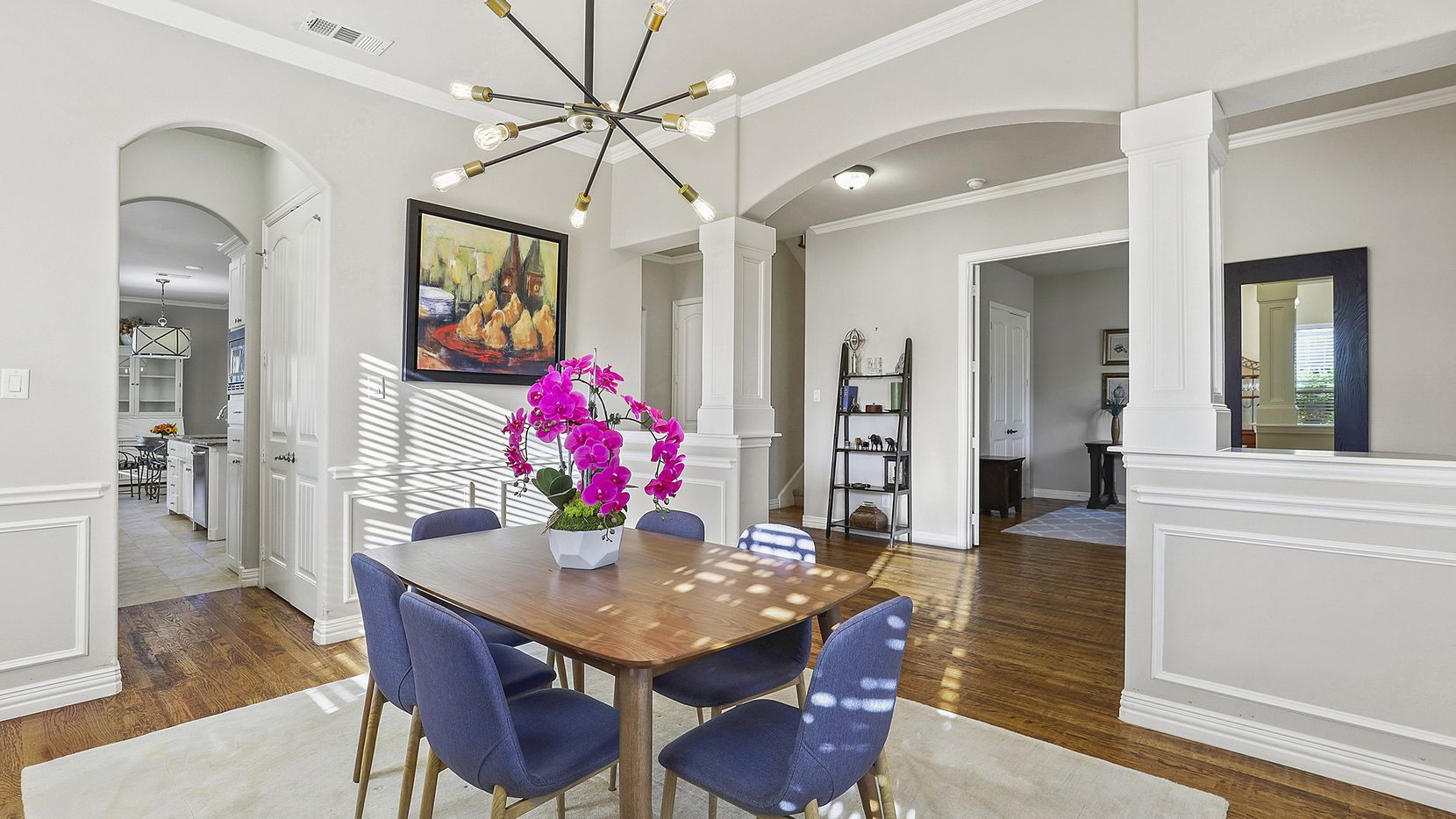 The three-bedroom home at 5303 Bonita Ave. has an open floor plan with wood flooring.