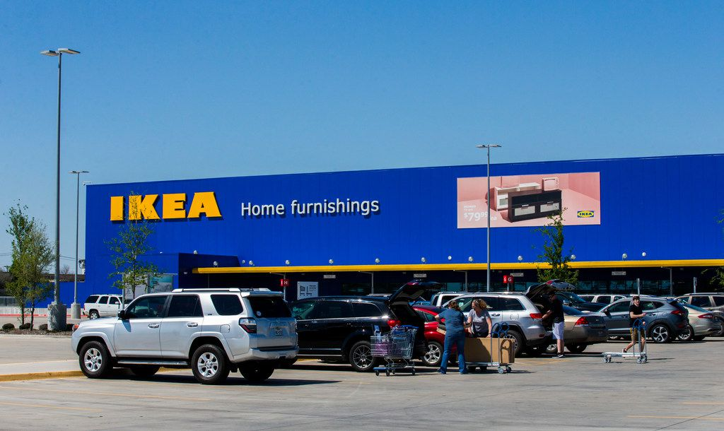 The Ikea store is at the intersection of State Highway 161 and Mayfield Road in Grand Prairie.