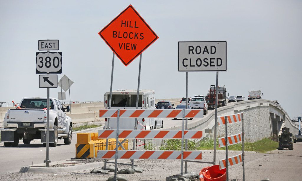Construction continued on the U.S. Highway 380  expansion between Frisco and Prosper in early May 2018.