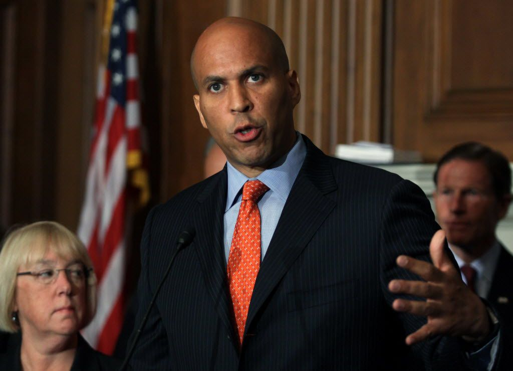 """Sen. Cory Booker, D-N.J., a potential running mate for Hillary Clinton, led the Democratic response to the GOP convention on Thursday, saying, """"What really got me here was the level of intensity of the hate and cruelty I've seen on the floor and coming out of speakers."""""""