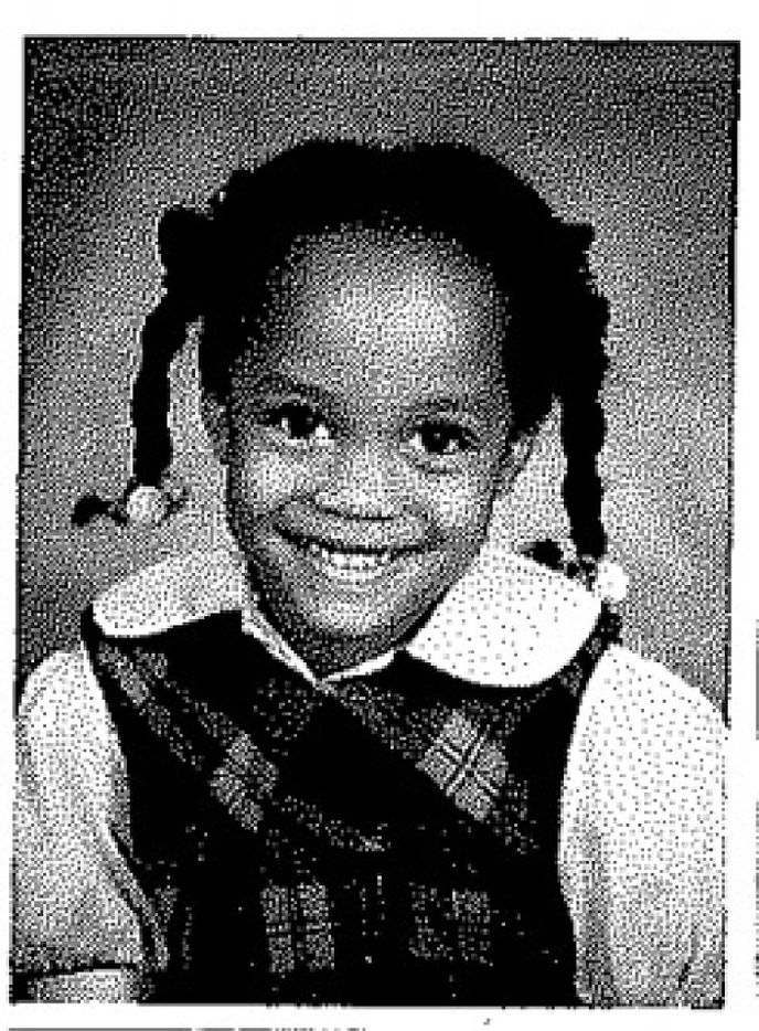 """Rachel Lindsay in kindergarten at First Baptist Academy in Dallas circa 1990. Lindsay was part of the """"13 club,"""" having attended the school from kindergarten through high school."""