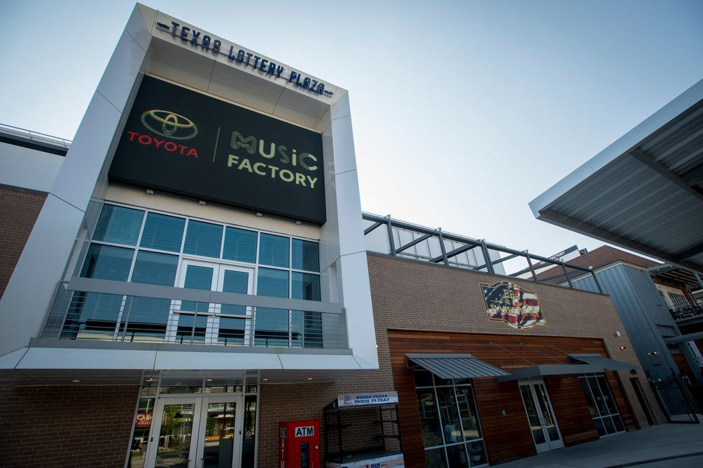 Shops and restaurants that were part of Big Beat Dallas, a music venue at the Toyota Music Factory in Las Colinas are now closed. (Robert W. Hart/Special Contributor)