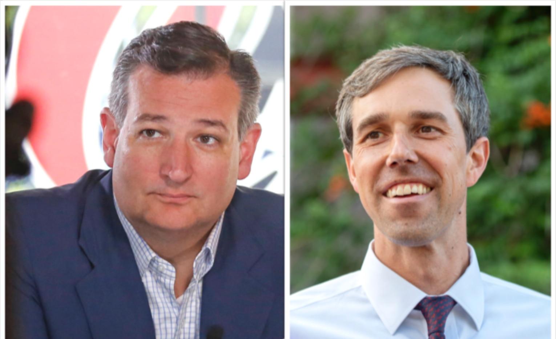 Ted Cruz y Beto O'Rourke, candidatos para el senado por Texas.(DMN)