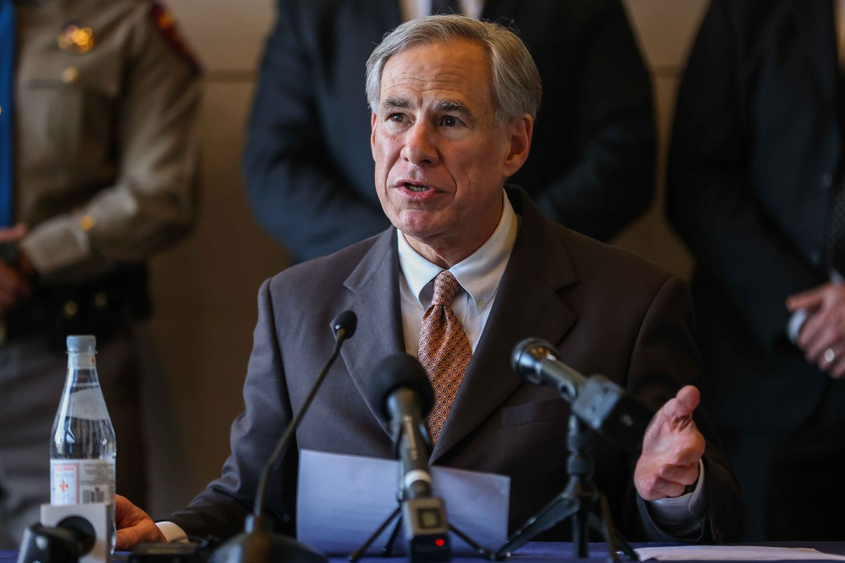Controversial election and abortion laws have made Gov. Greg Abbott more of a national figure. (File Photo/Lola Gomez)