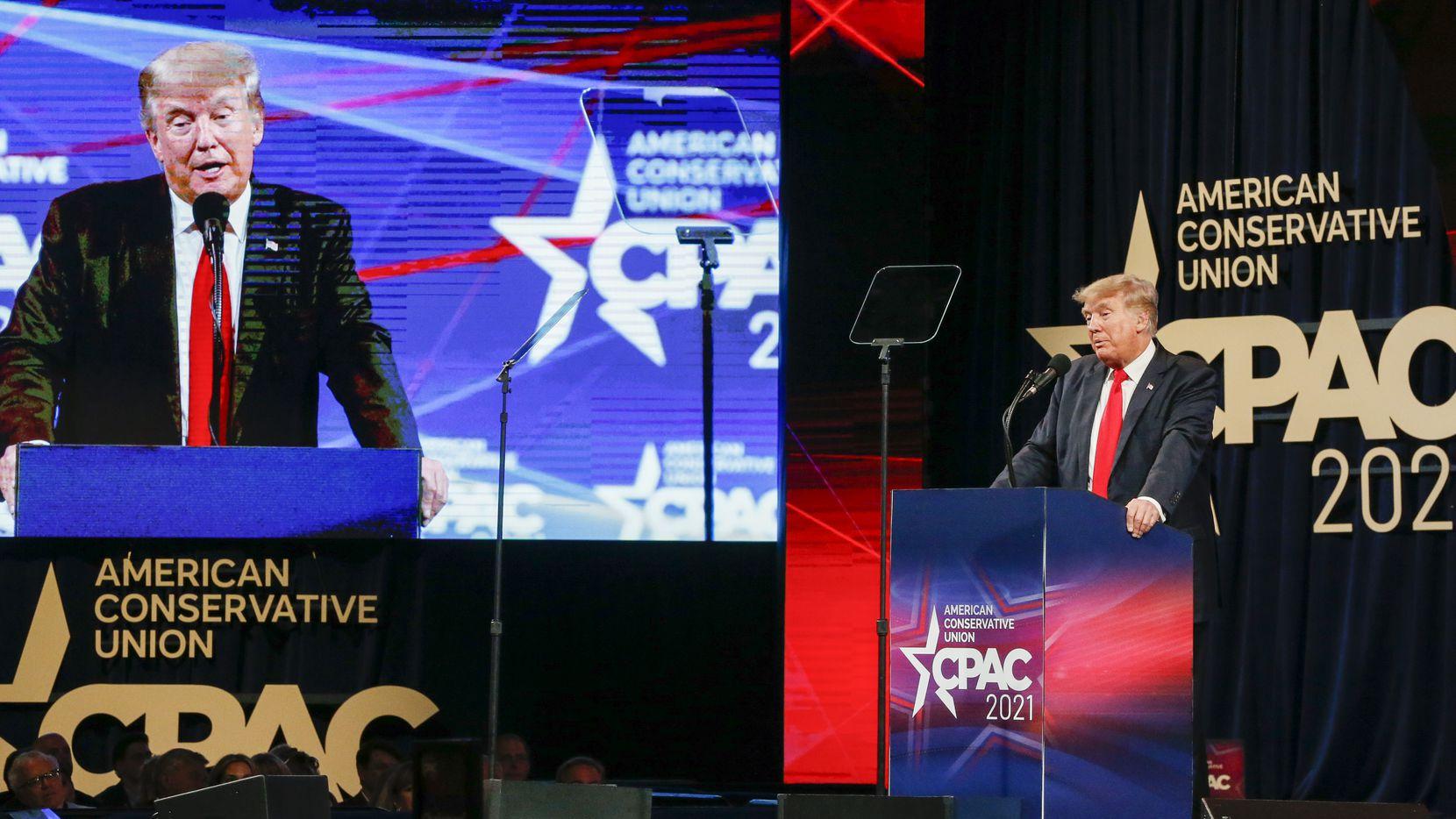 El expresidente Donald Trump encabezó la Conservative Political Action Conference el domingo 11 de julio de 2021, en Dallas.