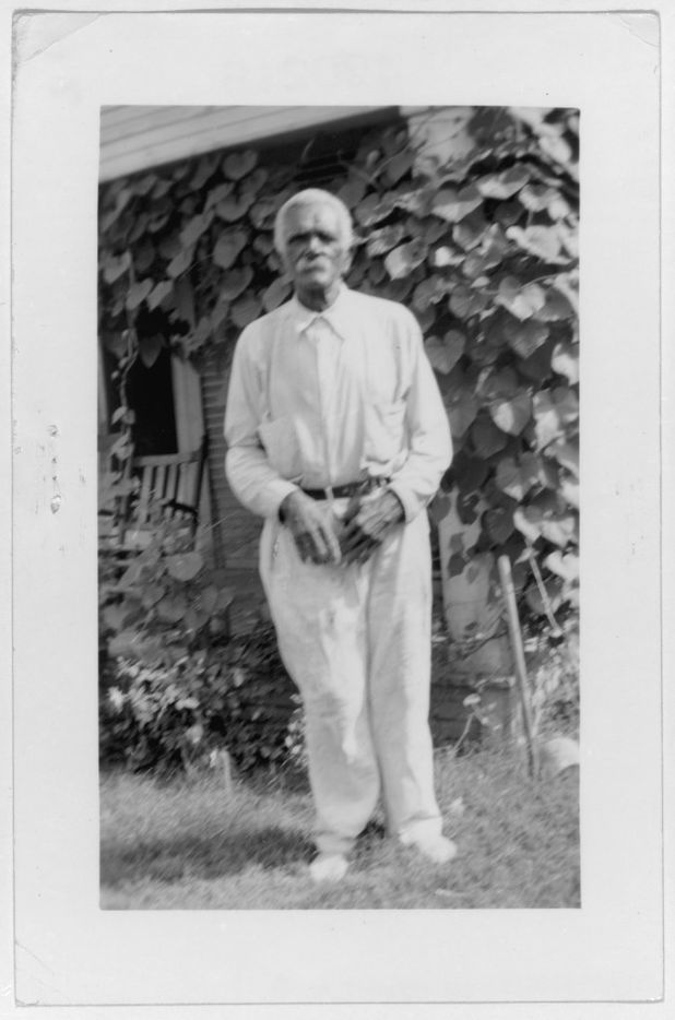 Cato Carter, ex-slave, shown in Dallas, in 1937. The photo is from a collection of portraits of African American ex-slaves created by the U.S. Works Progress Administration, for the Federal Writers' Project slave narratives collection.