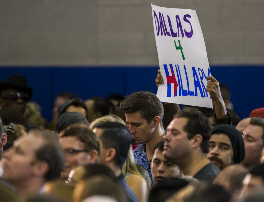 Presidential candidate HIllary Clinton made a fundraising stop in Dallas in 2015.