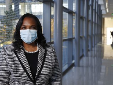 Vivian Johnson, Parkland Health & Hospital System's senior vice president of clinical support services, is helping the public health care organization develop its COVID vaccine plan. Parkland health care workers will be will among the first inoculated in North Texas. (Vernon Bryant/The Dallas Morning News)